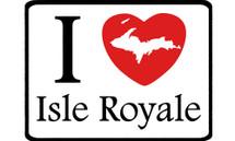 I Love Isle Royale Car Magnet
