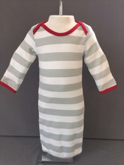 Baby Gown-Christmas Stripe