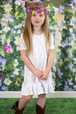 A-Line Short Sleeve Dress
