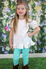 Girls Short Sleeve Ruffle