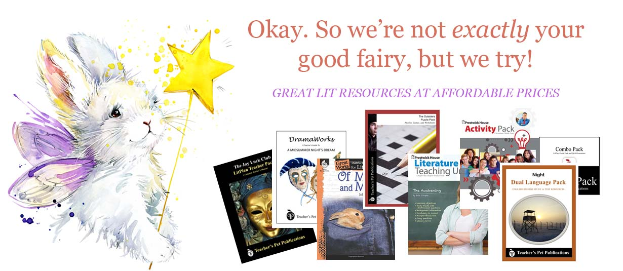 Teaching literature isn't always easy. It takes a lot of time to create study questions, vocabulary worksheets, writing assignments, tests, and your daily lesson plans. Our resources for teaching literature slash your prep time so you can spend your time