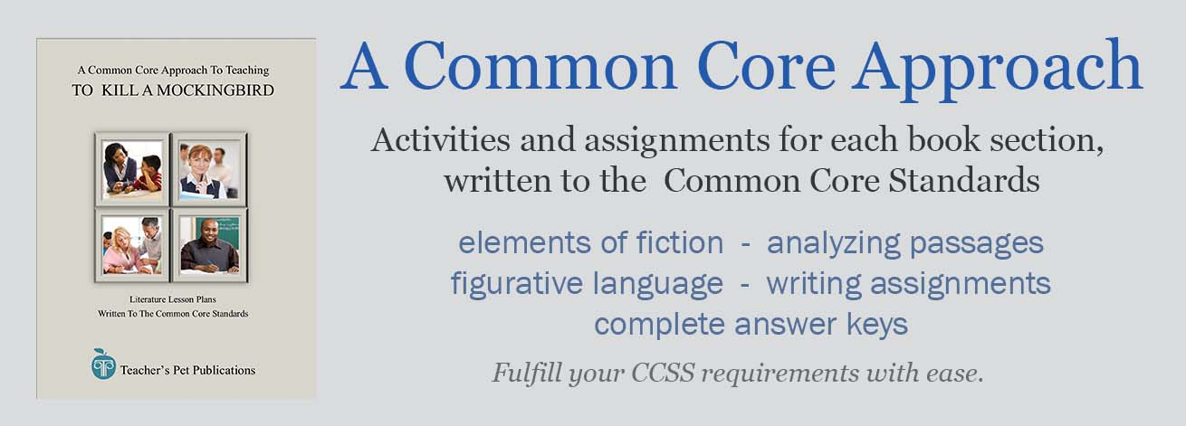 A Common Core Approach To Teaching - These novel unit teacher guides are not just aligned to, but written to the Common Core Standards. Common Core Standard activities for each section of the novel