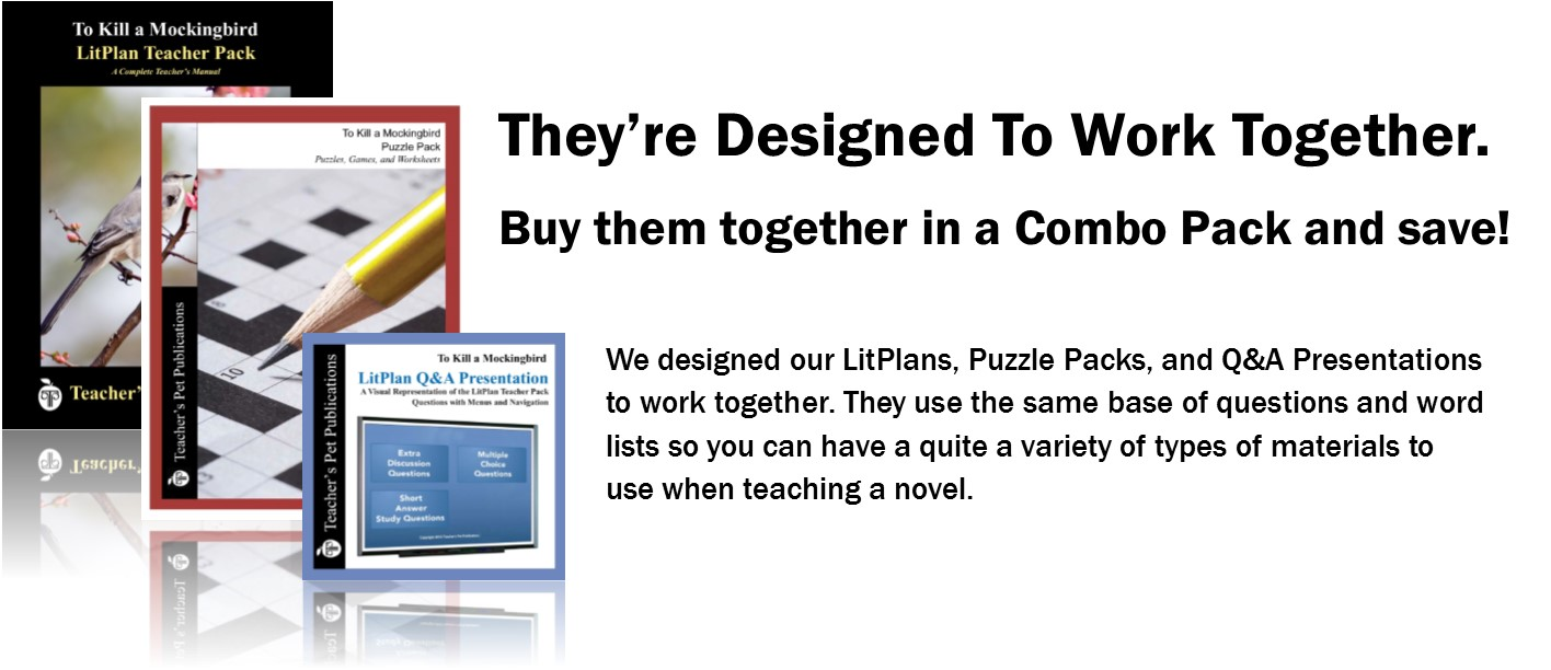 Get our LitPlan, Puzzle Pack, and Q&A Presentation together in a Combo Pack and save a lot!