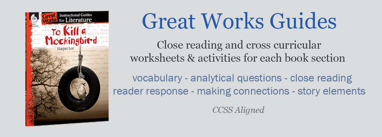 Great Works Instructional Guides For Literature are packed with activities to keep your students involved and learning throughout your novel unit study