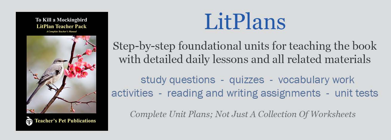 LitPlan Teacher Guides are ste-by-step novel units that include absolutely everything you need to teach a work of literature. Complete novel lesson plans for a whole unit of study!