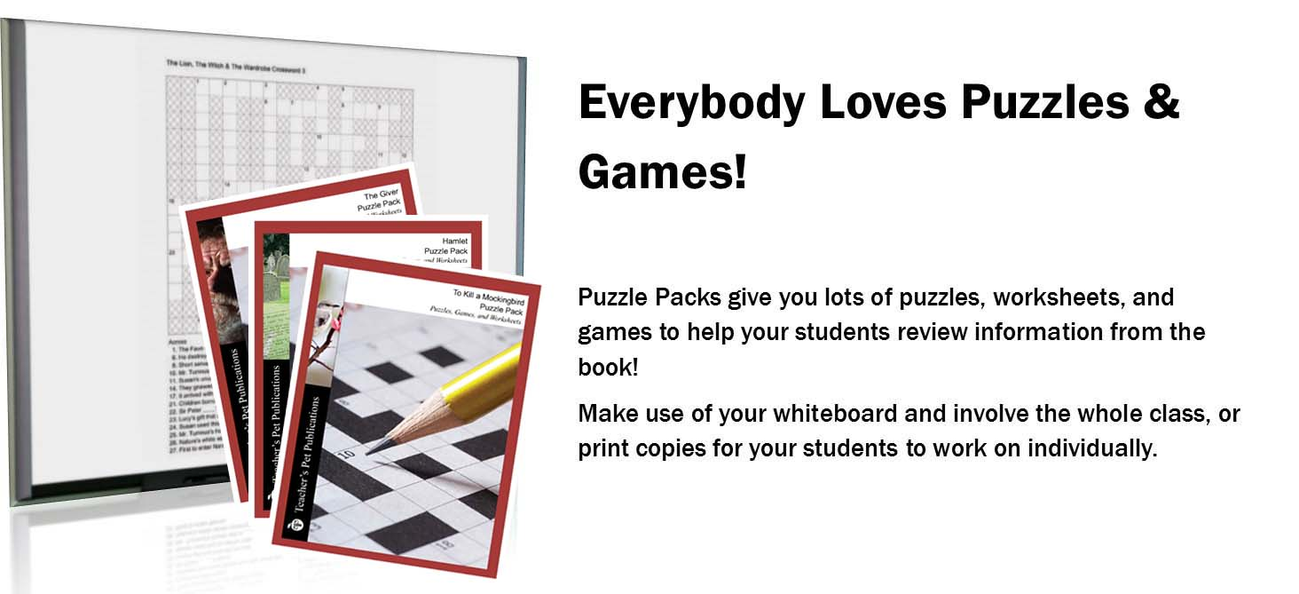 Puzzle Packs Crosswords Word Searches And Games For Reviewing Novels