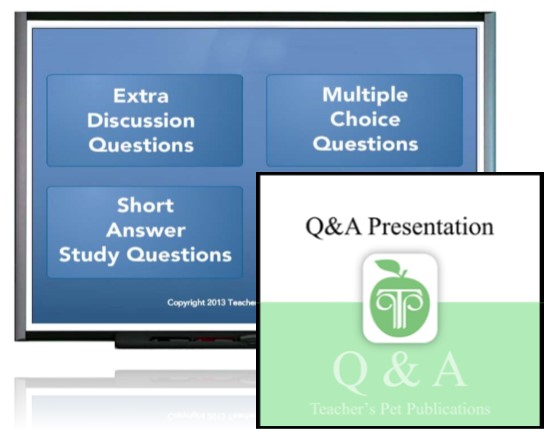 Q&A Presentations Add A Visual Element To Your Novel Unit Lesson Plans!