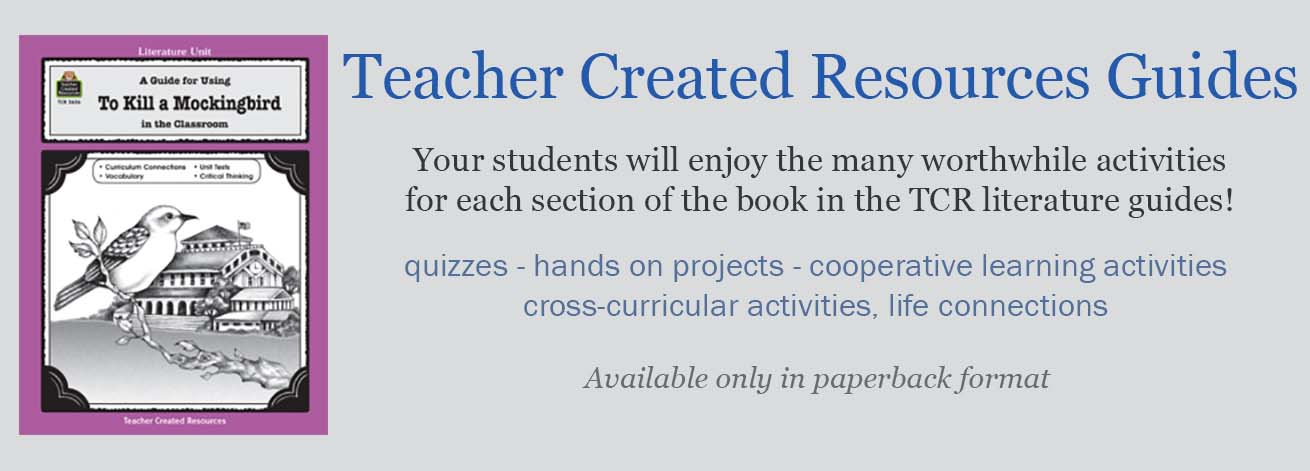 The Teacher Created Resources Novel Unit Teacher Guides provide a multitude of activities and worksheets to supplement your novel unit study. Activities include cross-curricular and analytical novel study.