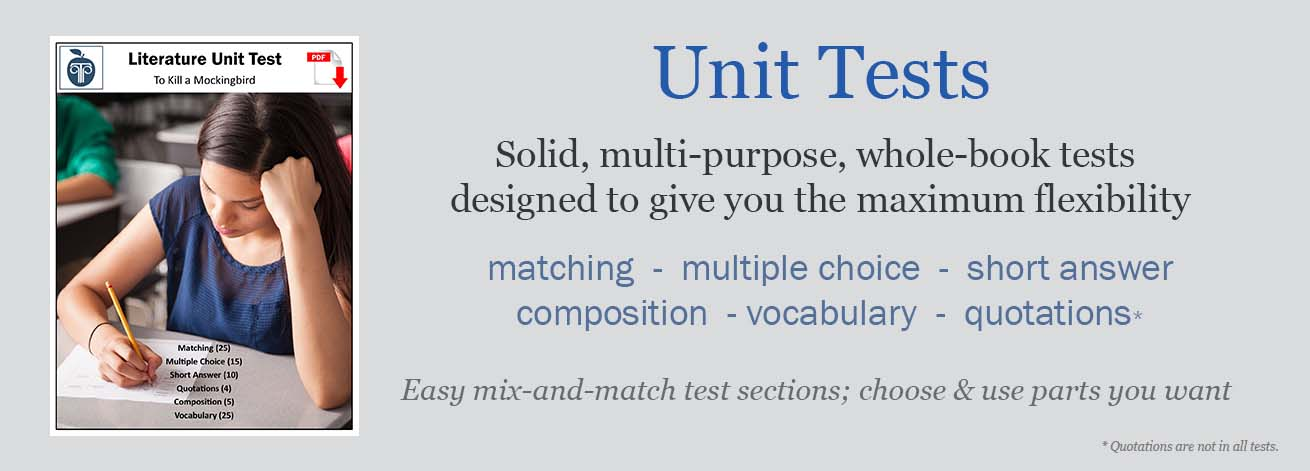 Our Novel Unit Tests have mix-and-match sections to be flexible for differentiation. Practical and thorough, these are great multi-purpose novel unit tests!