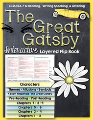 The Great Gatsby Novel Study Flip Book