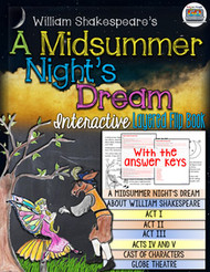 A Midsummer Night's Dream Novel Study Flip Book