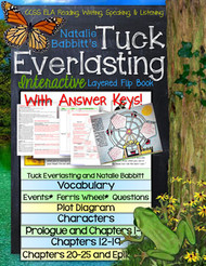 Tuck Everlasting Novel Study Flip Book