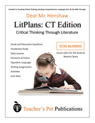 Dear Mr Henshaw LitPlan Critical Thinking Edition