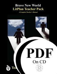 Brave New World LitPlan Lesson Plans (PDF on CD)