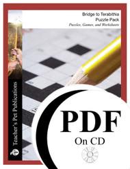 Bridge to Terabithia Puzzle Pack Worksheets, Activities, Games (PDF on CD)