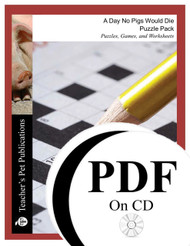 A Day No Pigs Would Die Puzzle Pack Worksheets, Activities, Games (PDF on CD)