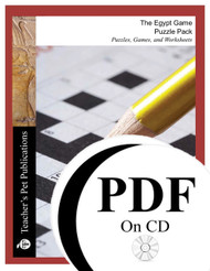 The Egypt Game Puzzle Pack Worksheets, Activities, Games (PDF on CD)
