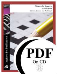 Flowers For Algernon Puzzle Pack Worksheets, Activities, Games (PDF on CD)