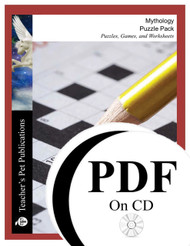 Mythology Puzzle Pack Worksheets, Activities, Games (PDF on CD)