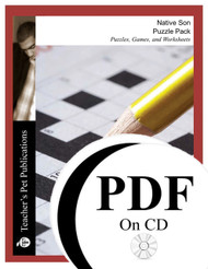 Native Son Puzzle Pack Worksheets, Activities, Games (PDF on CD)