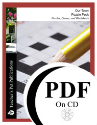 Our Town Puzzle Pack Worksheets, Activities, Games (PDF on CD)