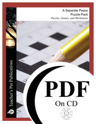 A Separate Peace Puzzle Pack Worksheets, Activities, Games (PDF on CD)