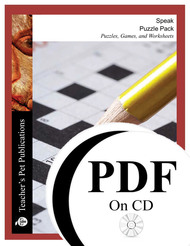 Speak Puzzle Pack Worksheets, Activities, Games (PDF on CD)