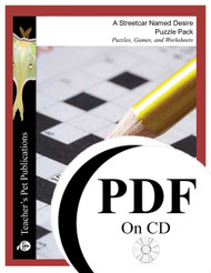 A Streetcar Named Desire Puzzle Pack Worksheets, Activities, Games (PDF on CD)