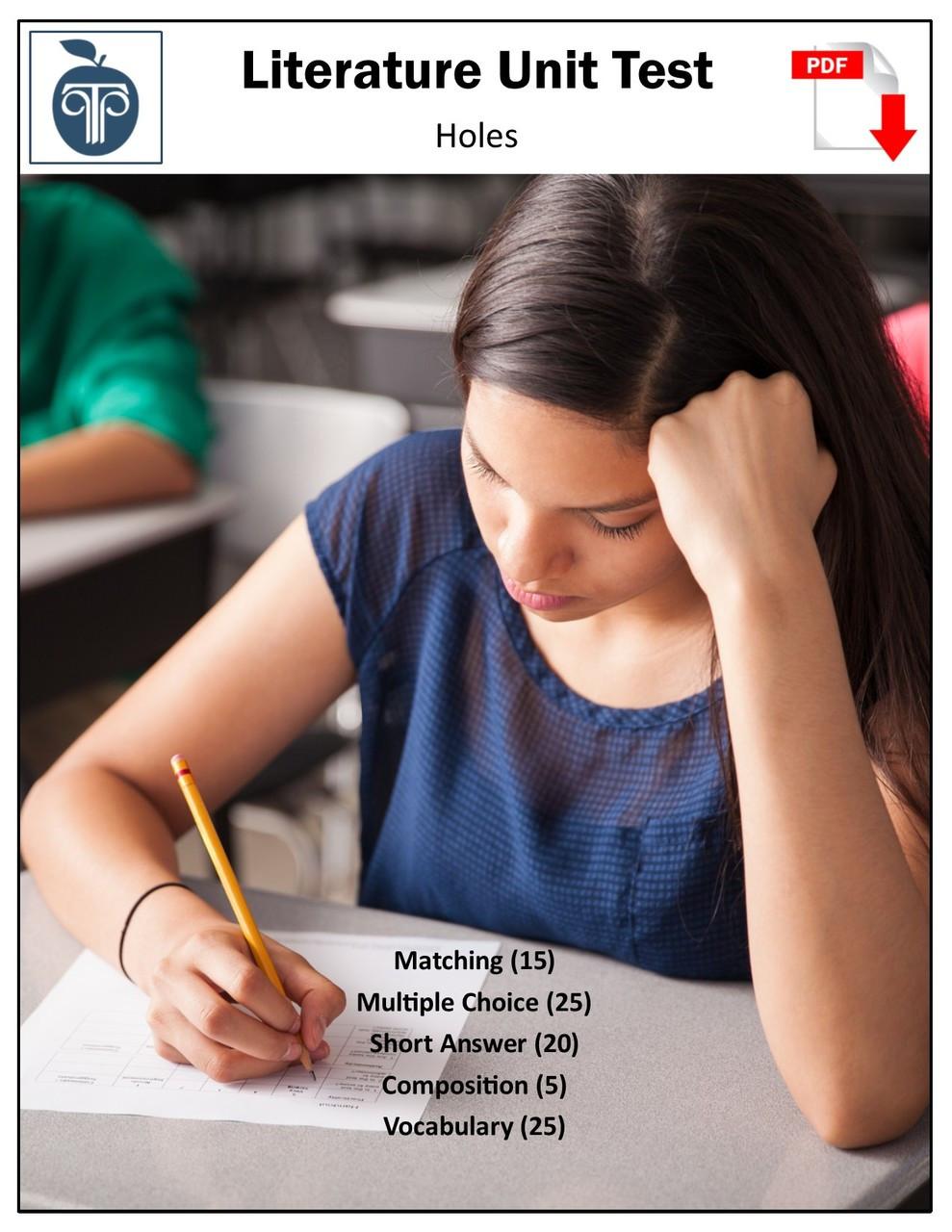 Holes lesson plans | litplan teacher guide.