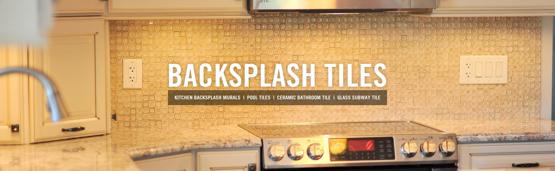 Kitchen Backsplash  Tiles | Glass Mosaic Tile | subway glass backsplashes