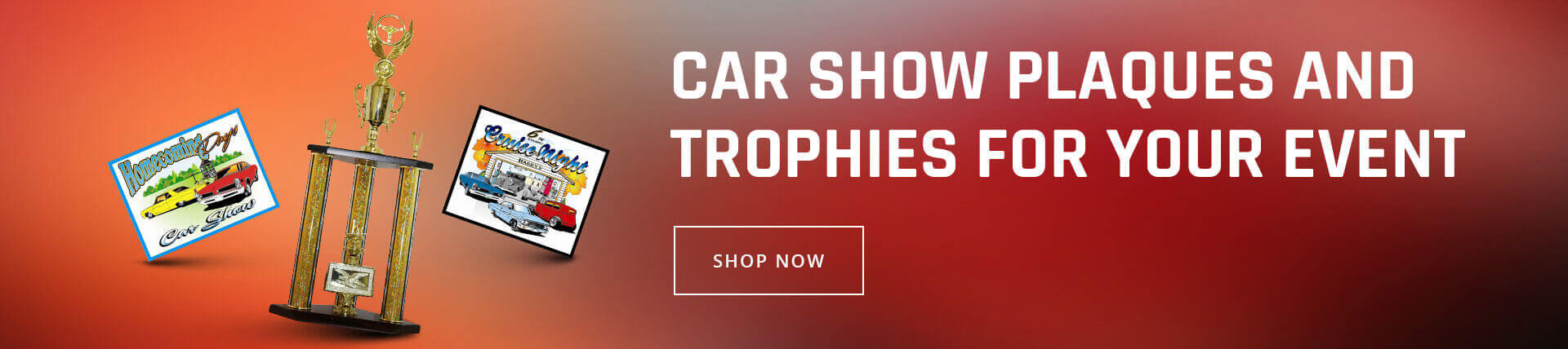 Car Show Plaques and Trophies Banner