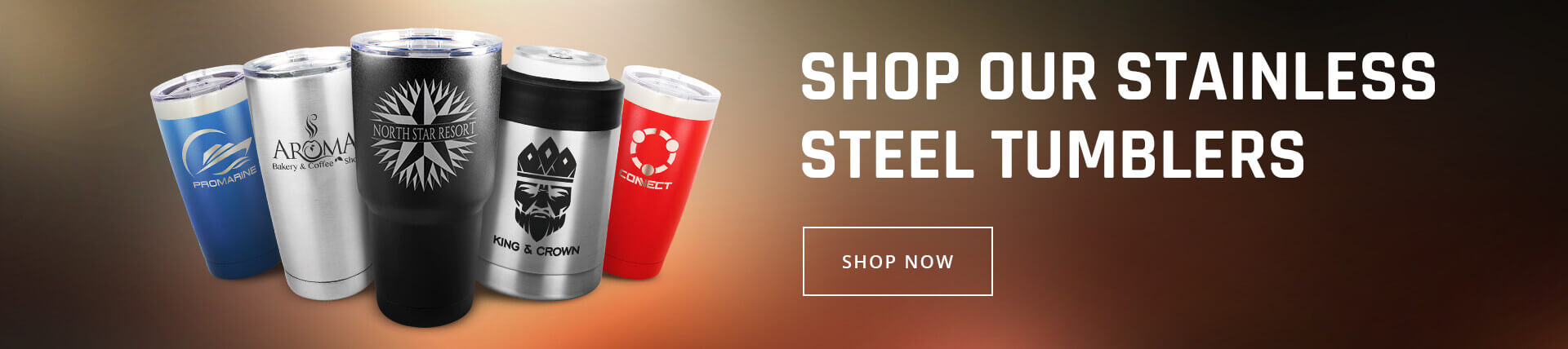 Stainless Tumblers Banner
