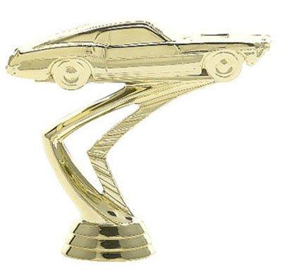 gold muscle car statue for trophies