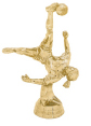 female soccer action trophy topper