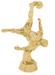 male soccer action trophy topper
