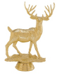 trophy with a gold deer statue