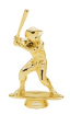 gold baseball player at bat trophy piece