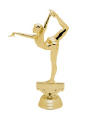 gold figure skater trophy piece