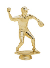 baseball pitcher gold trophy piece