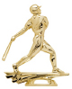 gold homerun figure trophy piece