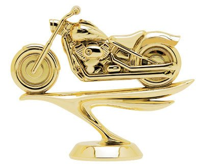 gold trophy with a classic motorcycle figure