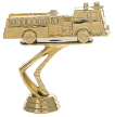 trophy with a gold fire truck statue