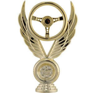 Large steering wheel trophy topper