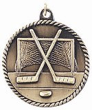Hockey High Relief Medal