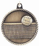Volleyball High Relief Medal