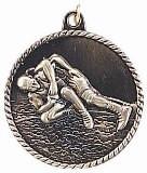 Wrestling High Relief Medal