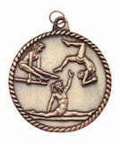 Gymnastics High Relief Medal - Female