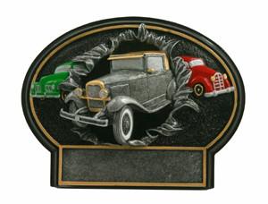 Antique Car Burst Thru