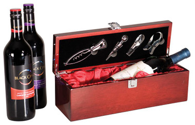 Single Bottle Rosewood Prsentation Box with tools