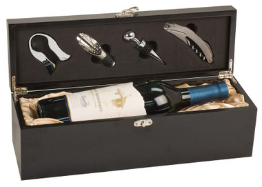 Matte Black Wine Presentation Box with tools